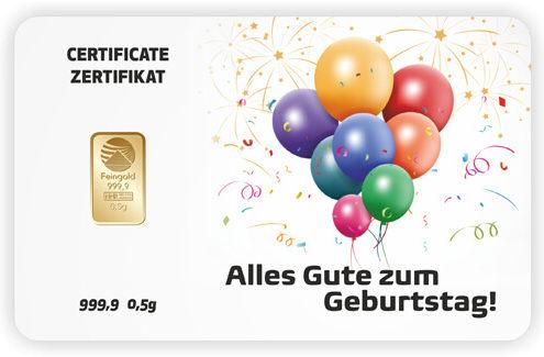 Goldkarte als Geschenk