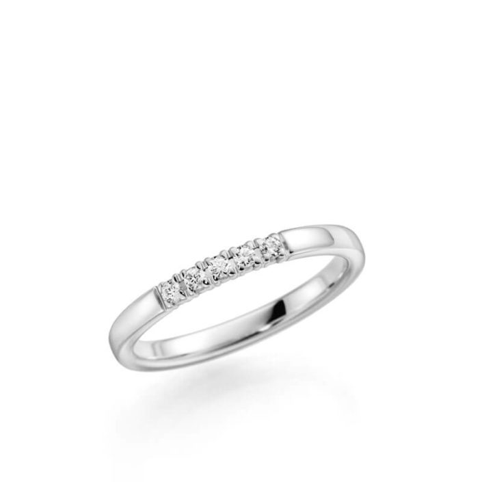 Memoire-Ring mit 5 Brillanten