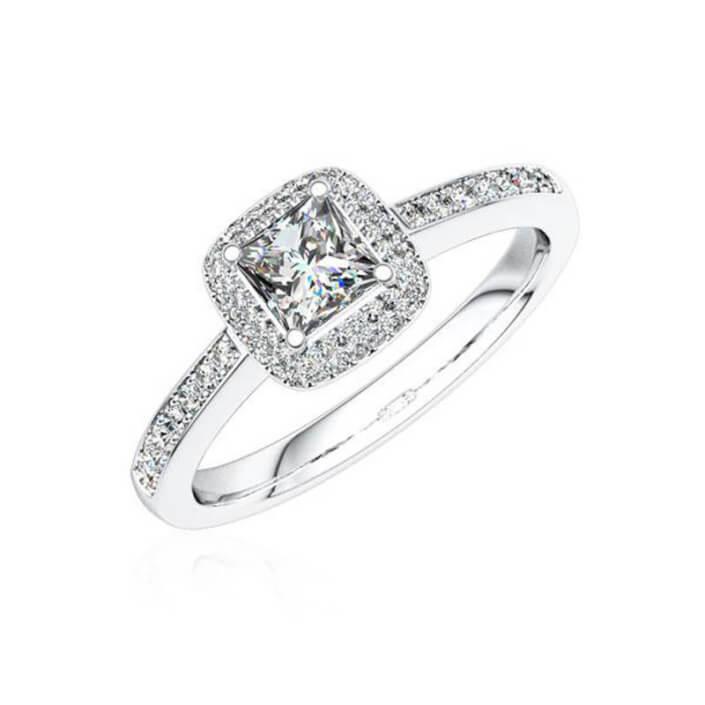 Verlobungsring silber mit Diamant
