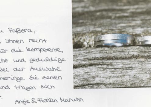 Antje & Florian Danksagung 2016