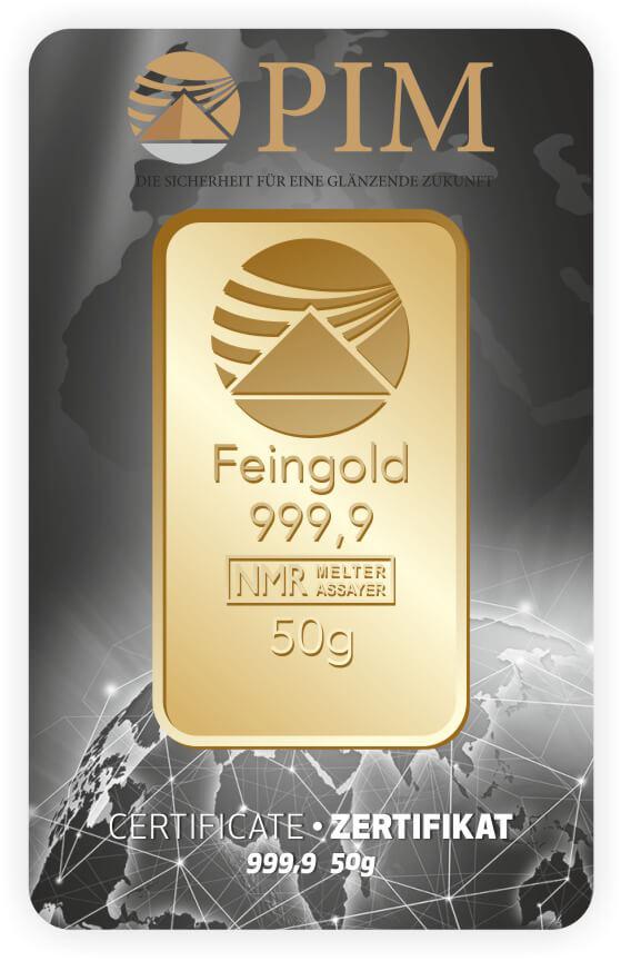 Goldbarren 50g
